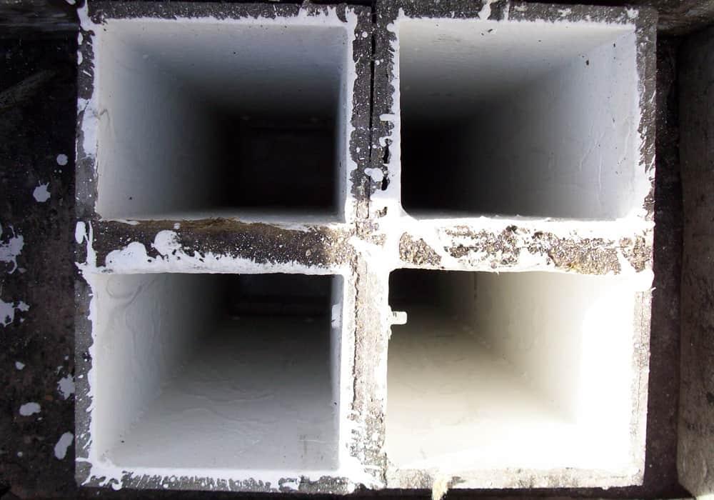 Abluftschächte Wohnungsbau Asbest nach der Sanierung