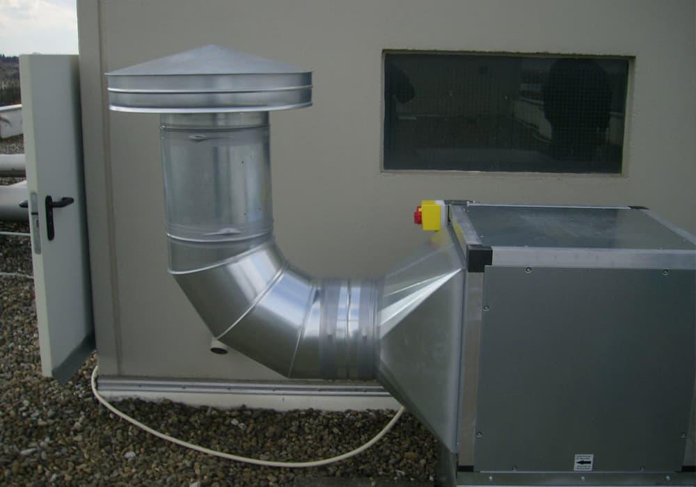 Anschluss eines Abluftventilators im gewerblichen Bereich