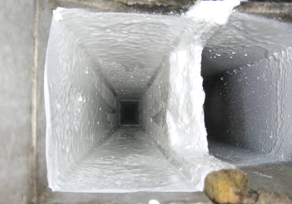 Asbest Lüftungsschacht nach der Sanierung Versiegelung