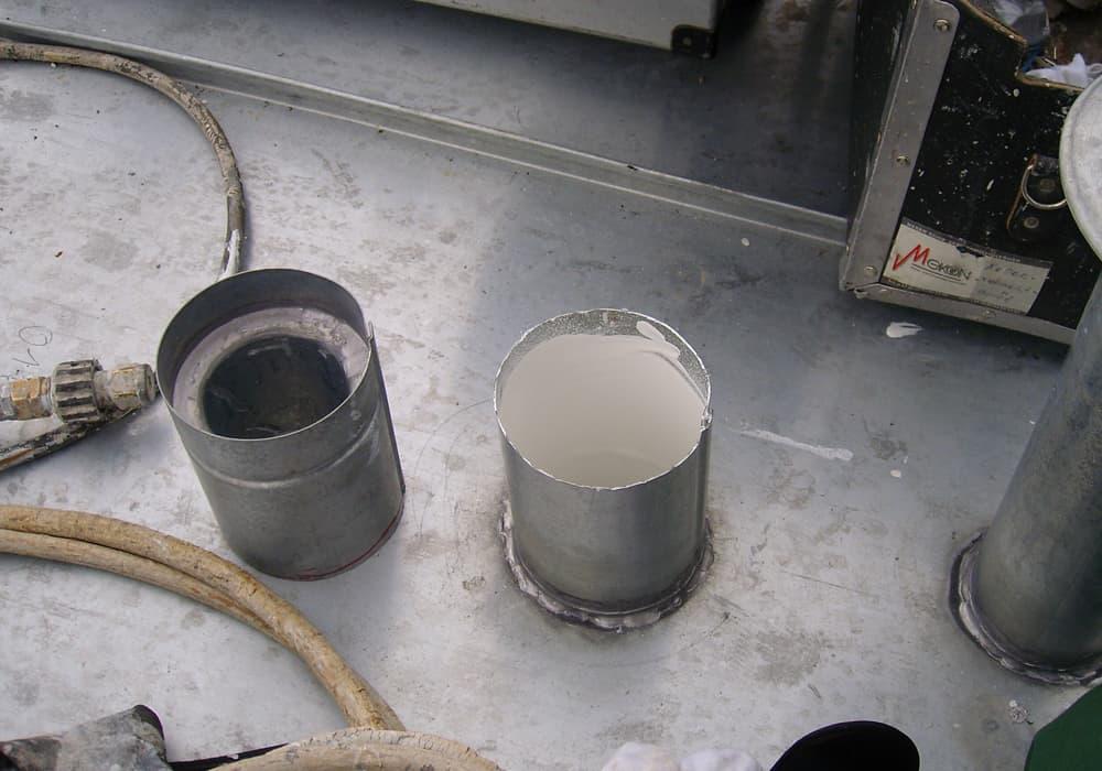 Beschichtetes Lüftungsrohr nach der Innenbeschichtung