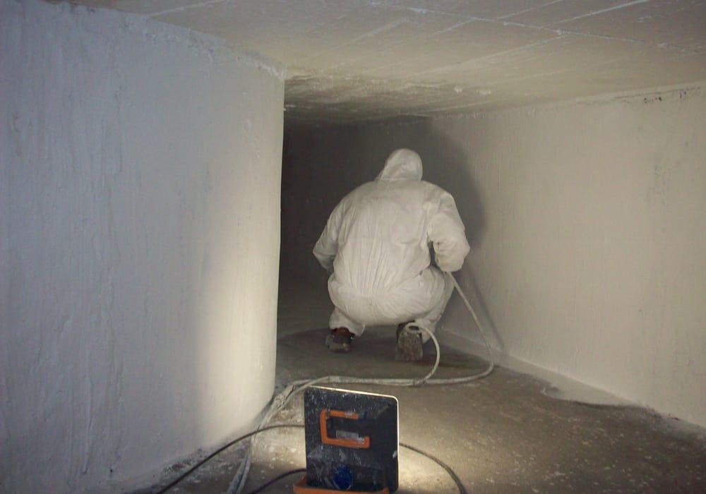 Beschichtung eines begehbaren Zuluftschachtes gemauert im Bodenbereich verlegt