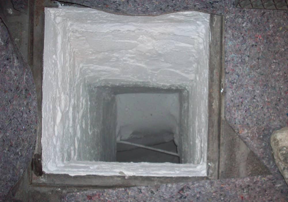 Beschichtung eines gemauerten Zuluftsteigers