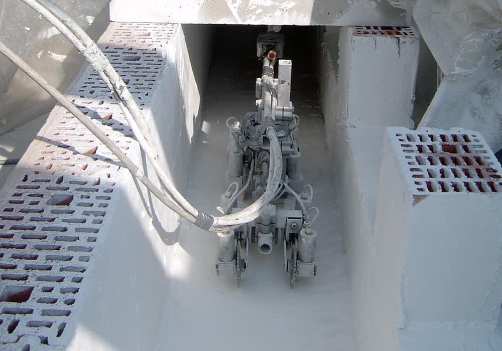 Beschichtung gemauerter Kanal zur Nutzung als Zuluftkanal nach VDI