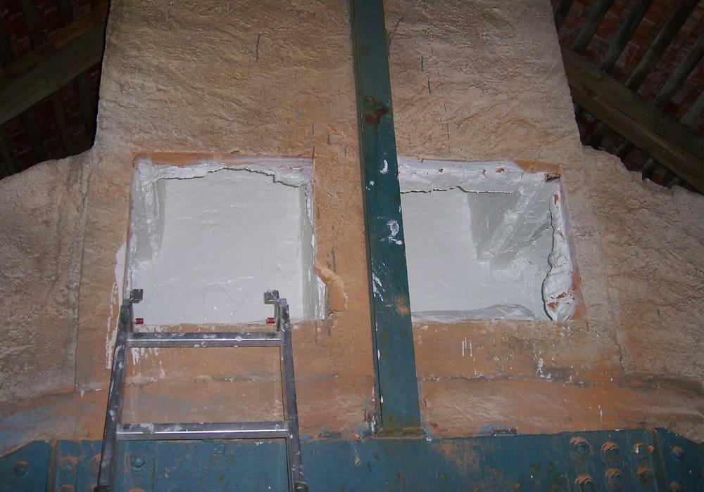 Beschichtung gemauerter Lüftungsschacht nach der Sanierung für Zuluft nach VDI zugelassen