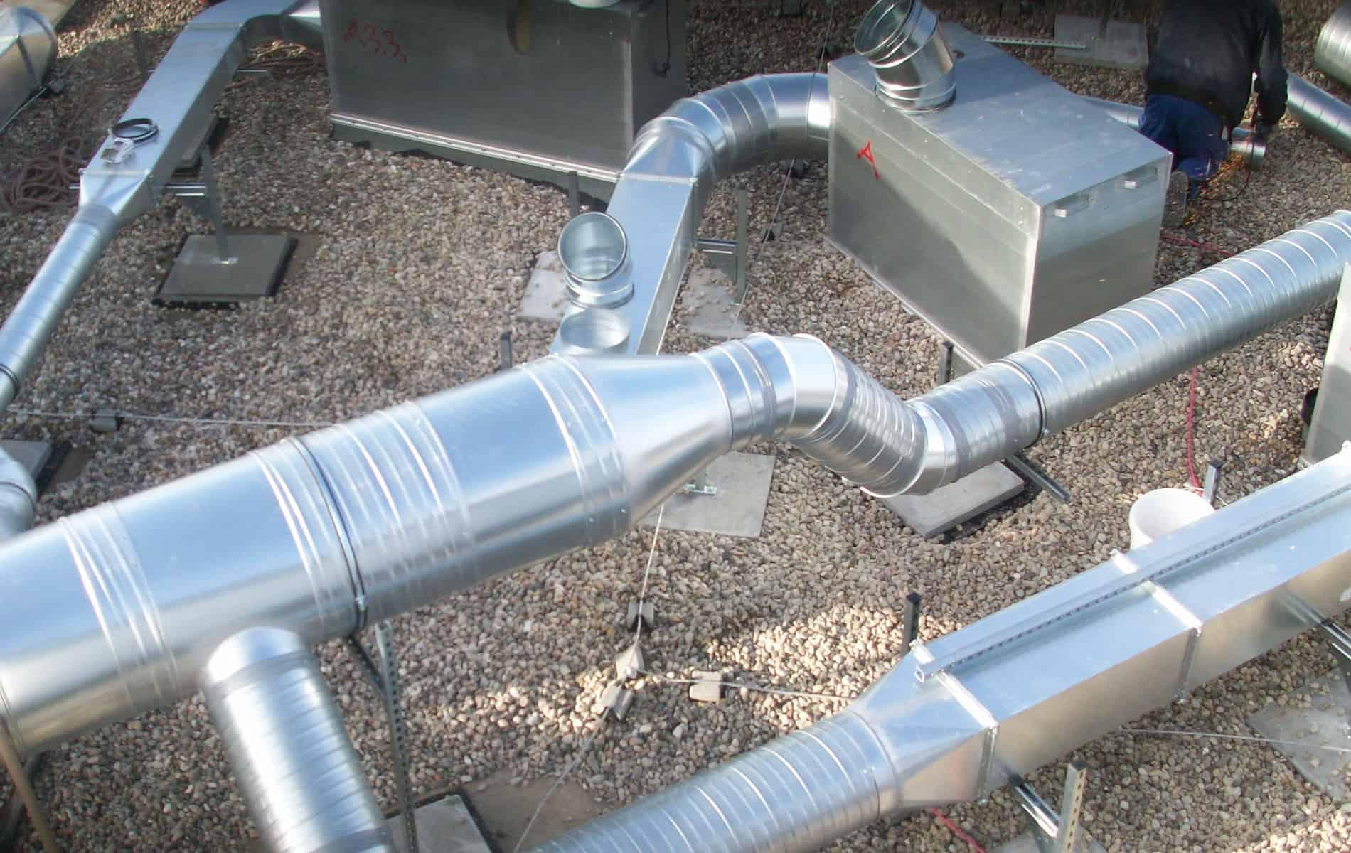 Errichtung von Lüftungsanlagen Kanälen und Rohren