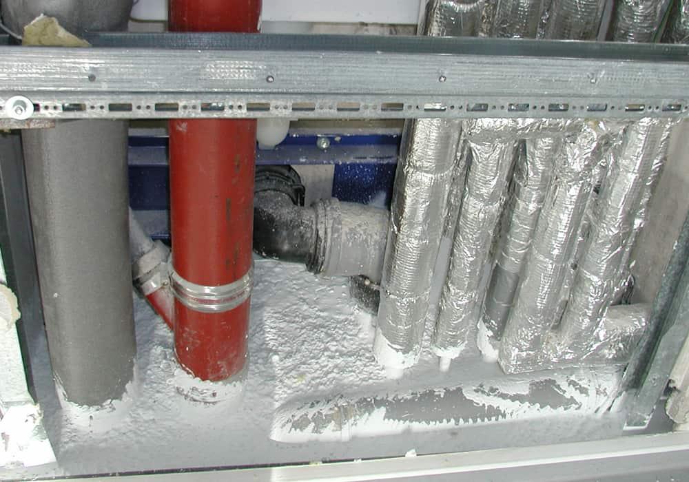 Gasgasdichter Verschluss Abdichtung eines Installationsschachtes