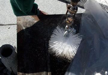 Reinigung Lüftungsschacht durch chemische Nassoxidation Wohnungsbau