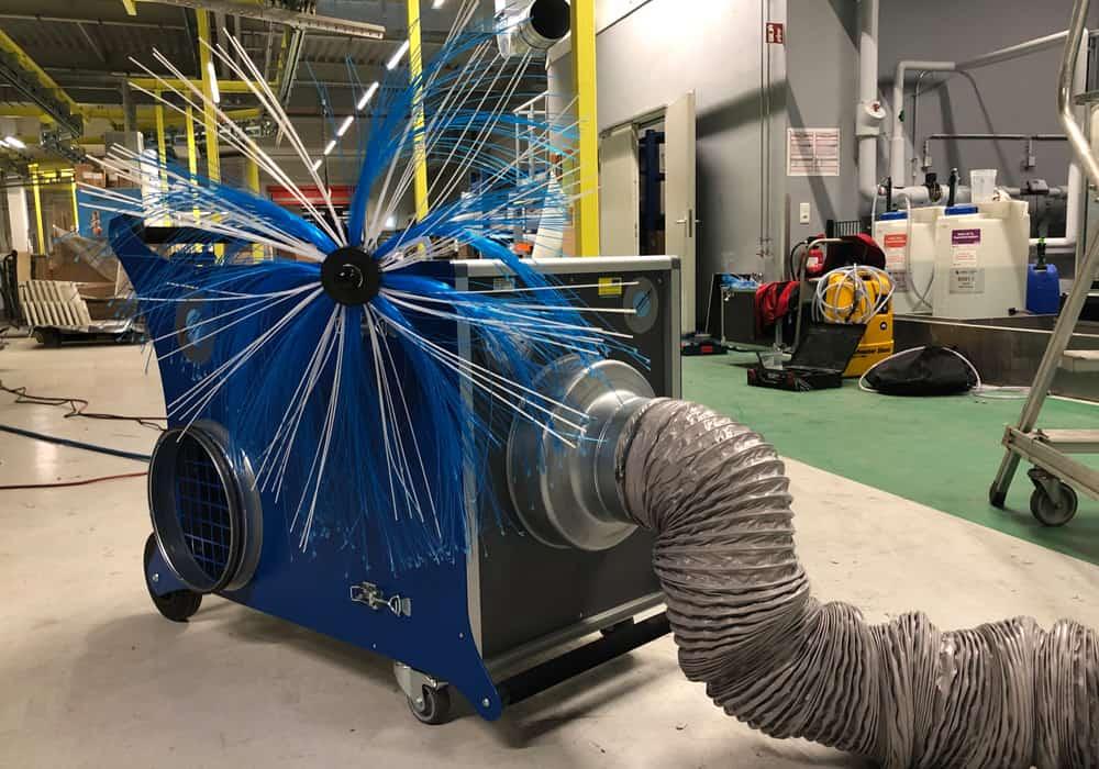 Reinigungstechnik für die Reinigung von Lüftungskanälen und Rohren in Gewerbe und Industrie