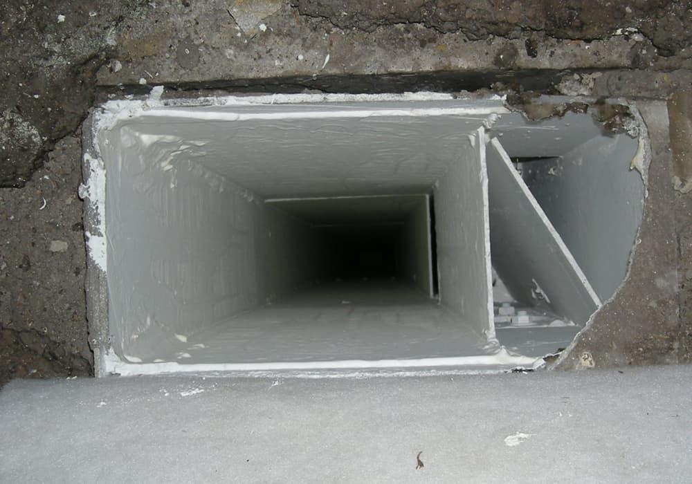 Versiegelung Beschichtung Asbest Lüftungskanal nach der Sanierung