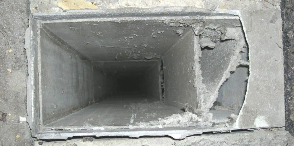 Wohnungsbau Baunatal – Birkenallee - Lüftungskanal - Vorher